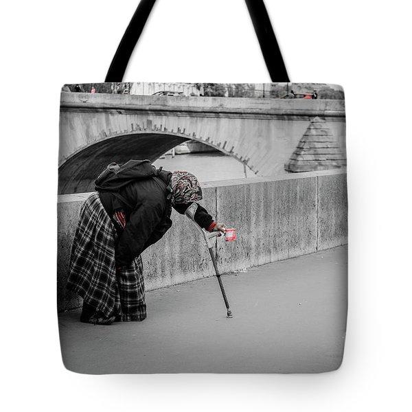 Parisian Beggar Lady Tote Bag