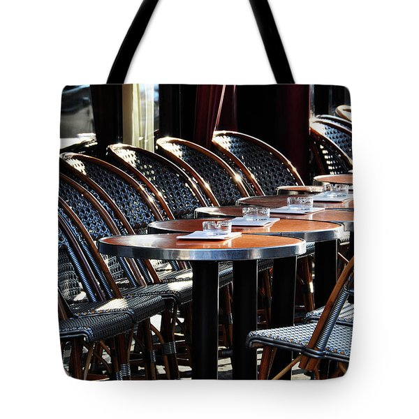 Parisian Cafe Terrace Tote Bag