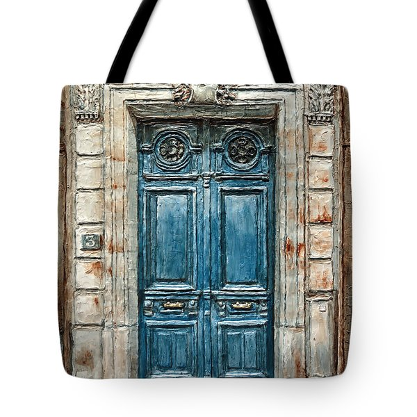 Parisian Door No. 3 Tote Bag by Joey Agbayani
