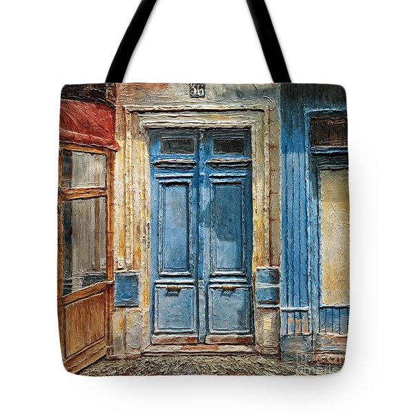 Parisian Door No.36 Tote Bag by Joey Agbayani