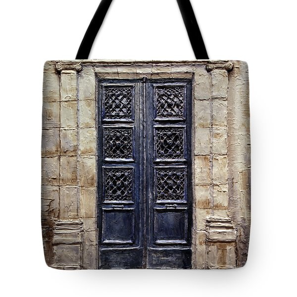 Parisian Door No.40 Tote Bag by Joey Agbayani