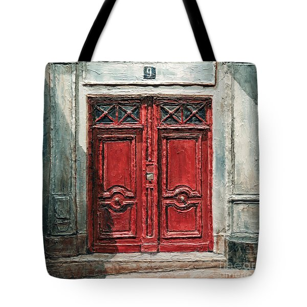 Parisian Door No.9 Tote Bag by Joey Agbayani