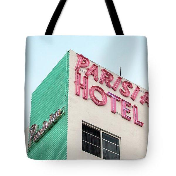 Parisian Hotel South Beach Tote Bag