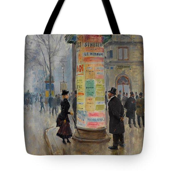 Parisian Street Scene Tote Bag by John Stephens