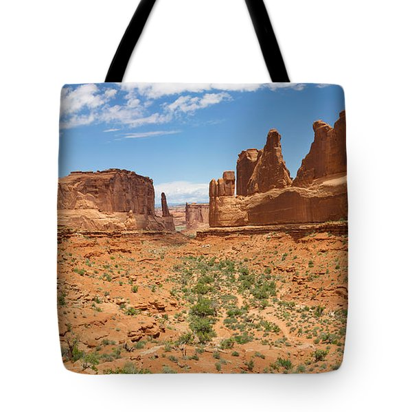 Tote Bag featuring the photograph Park Avenue - Arches National Park by Aaron Spong