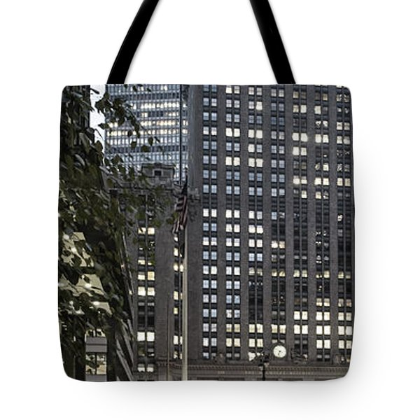 Tote Bag featuring the photograph Park Avenue Met Life Nyc by Juergen Held