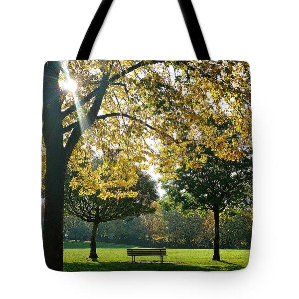 Park Bench Tote Bag