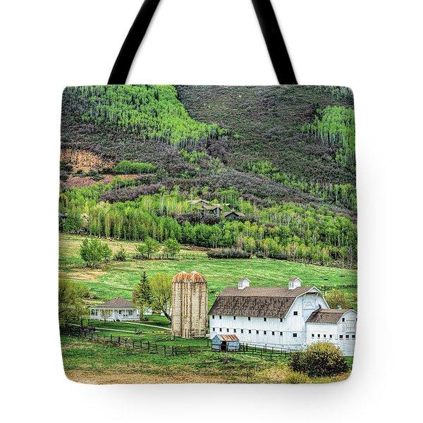 Park City Utah Barn Tote Bag