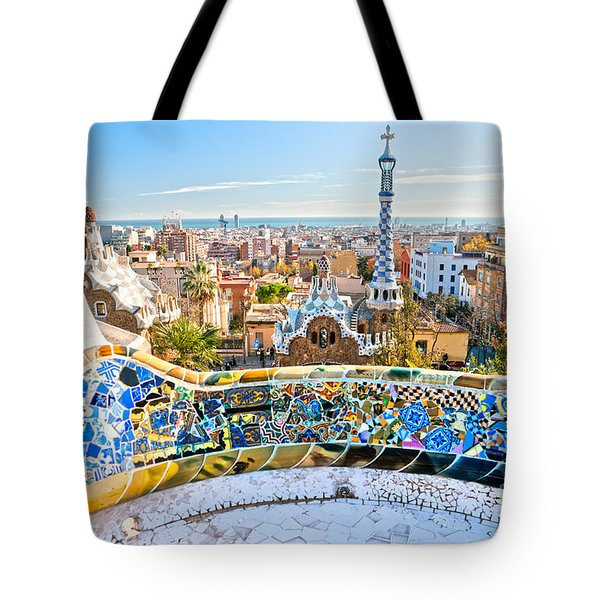 Tote Bag featuring the photograph Park Guell Barcelona by Luciano Mortula