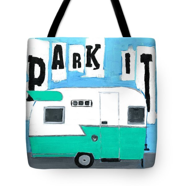 Park It-aqua Tote Bag