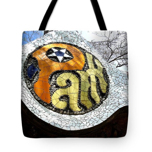 Park Letters In Collage Tote Bag