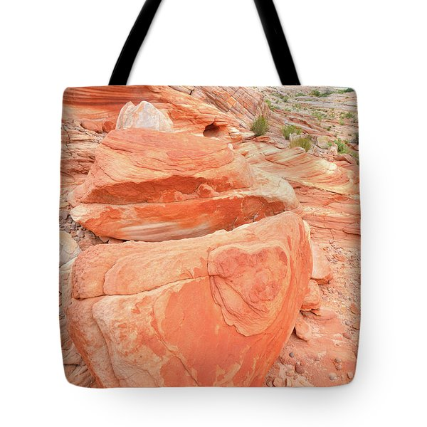 Tote Bag featuring the photograph Park Road View In Valley Of Fire by Ray Mathis
