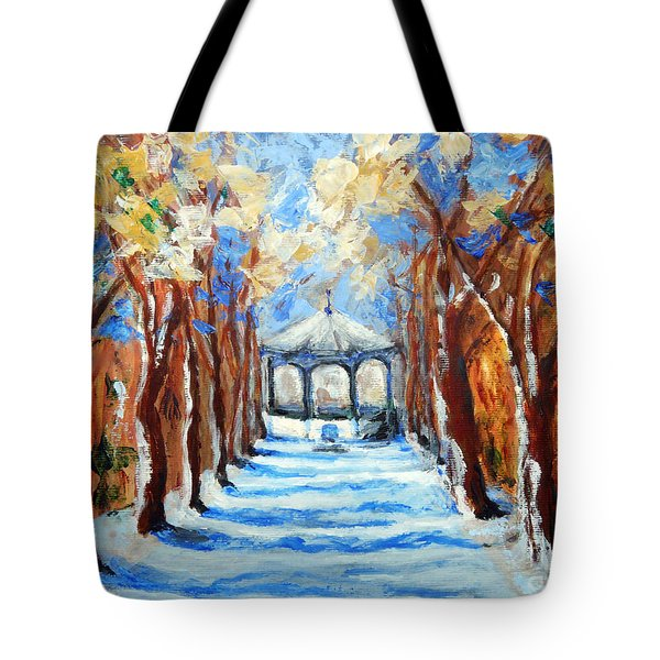 Park Zrinjevac Tote Bag by Jasna Dragun