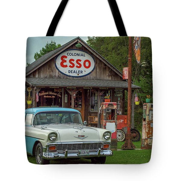 Parked At Ferland Motor Company Tote Bag