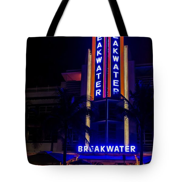 Tote Bag featuring the photograph Parked At The Breakwater by Melinda Ledsome