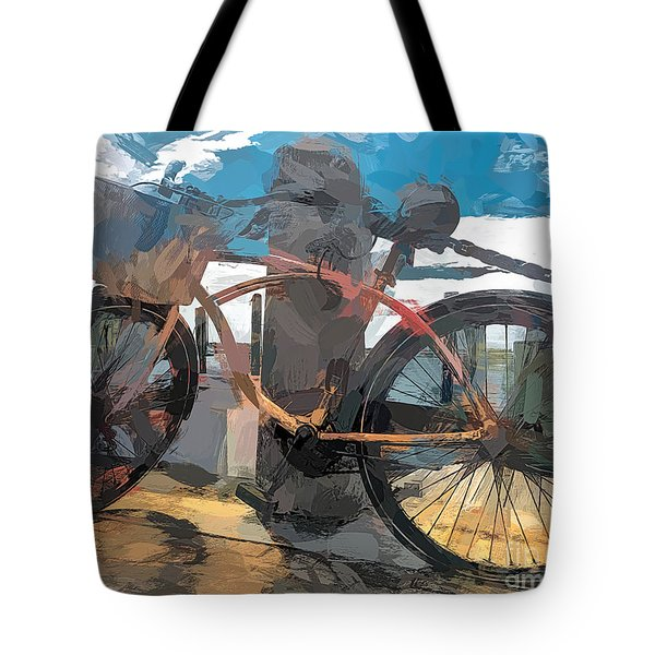 Parked At The Wharf Tote Bag