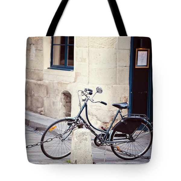 Parked In Paris - Bicycle Photography Tote Bag by Melanie Alexandra Price