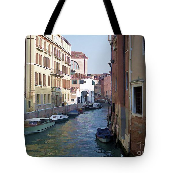 Tote Bag featuring the photograph Parked In Venice by Roberta Byram