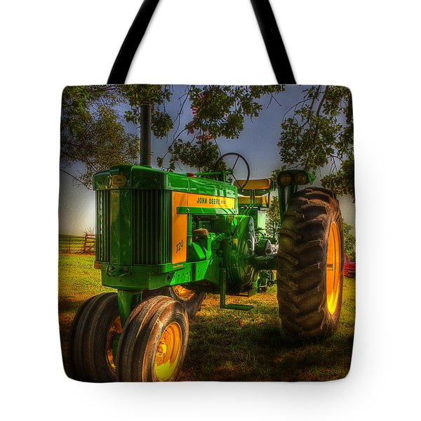Parked John Deere Tote Bag