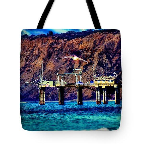 Parked On Scripps Pier - La Jolla Tote Bag
