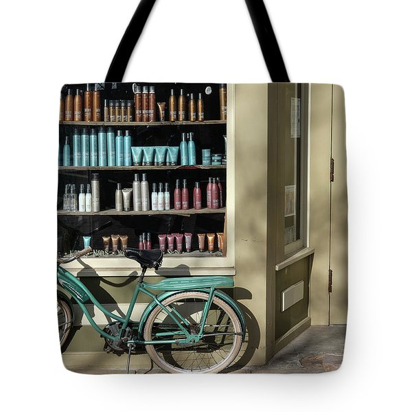 Tote Bag featuring the photograph Parked Outside by Monte Stevens