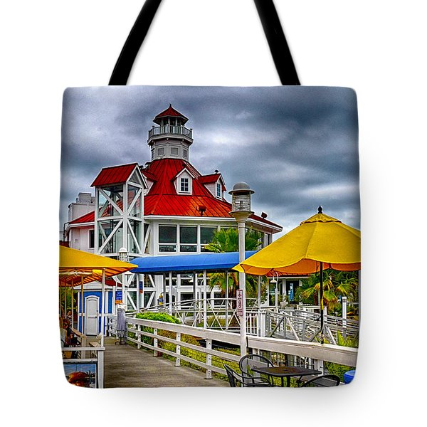 Tote Bag featuring the photograph Parkers Lighthouse by Joseph Hollingsworth