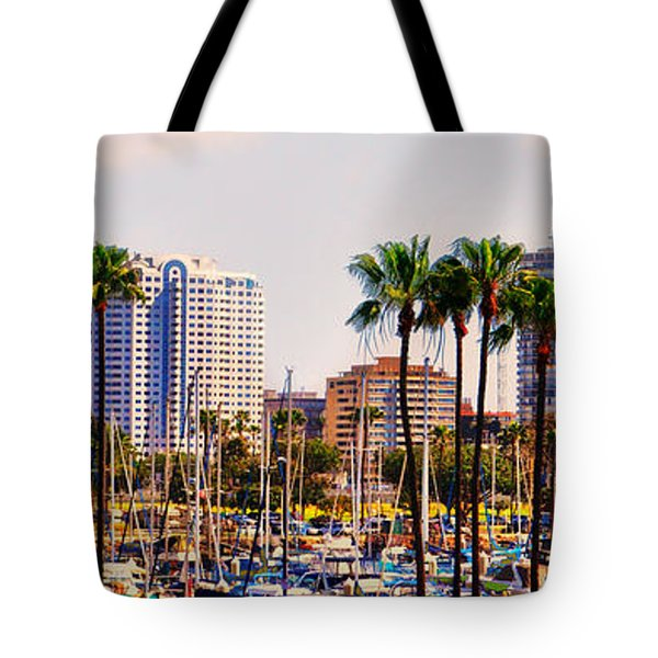 Parking And Palms In Long Beach Tote Bag by Bob Winberry