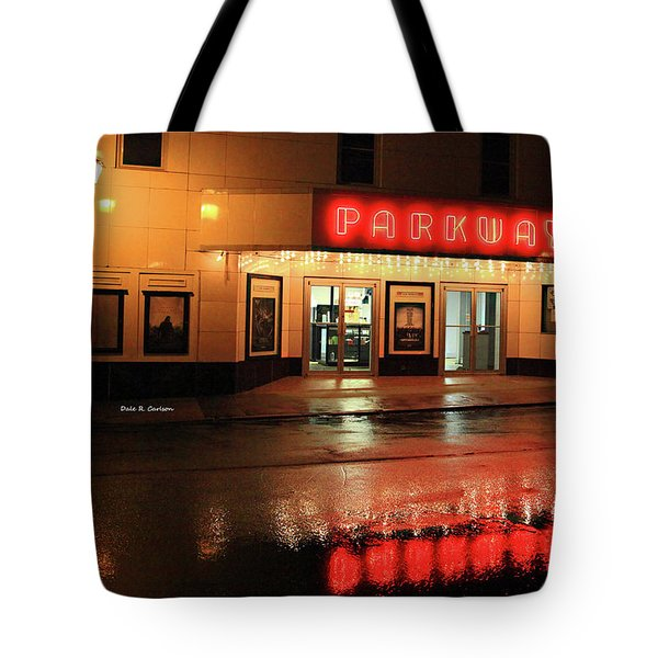 Parkway Night Tote Bag by Dale R Carlson