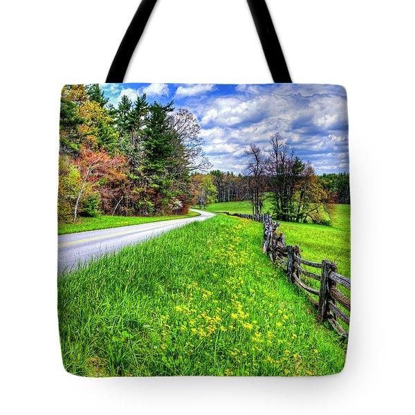 Parkway Spring Tote Bag by Dale R Carlson