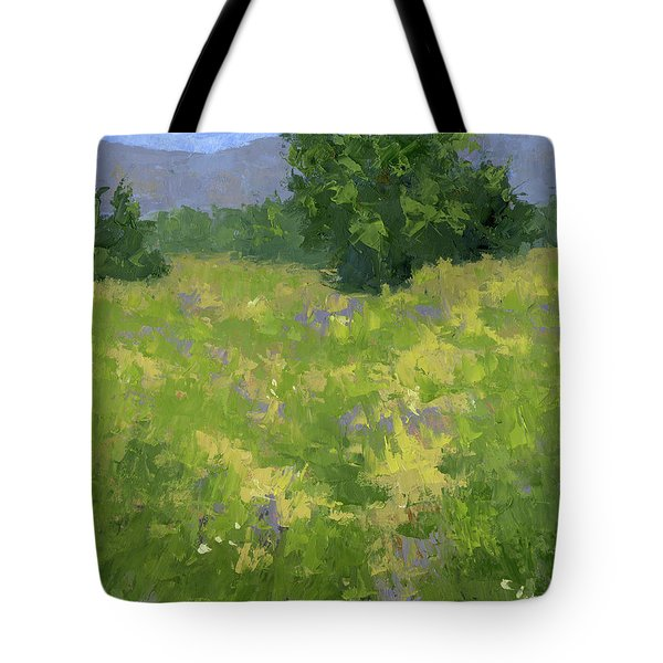Tote Bag featuring the painting Parkway Spring Oil by David King