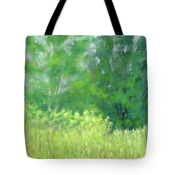 Tote Bag featuring the painting Parkway Trees by David King