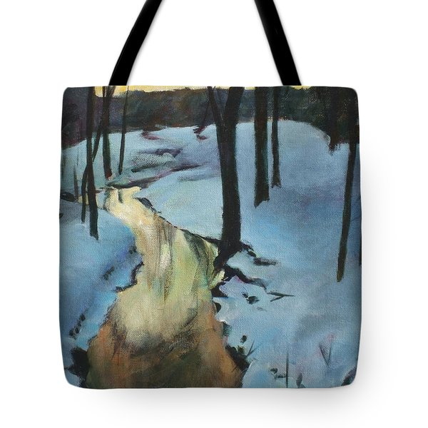 Parlee Farm Sunset Creek Tote Bag by Claire Gagnon