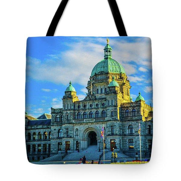 Parliament Victoria Bc Tote Bag