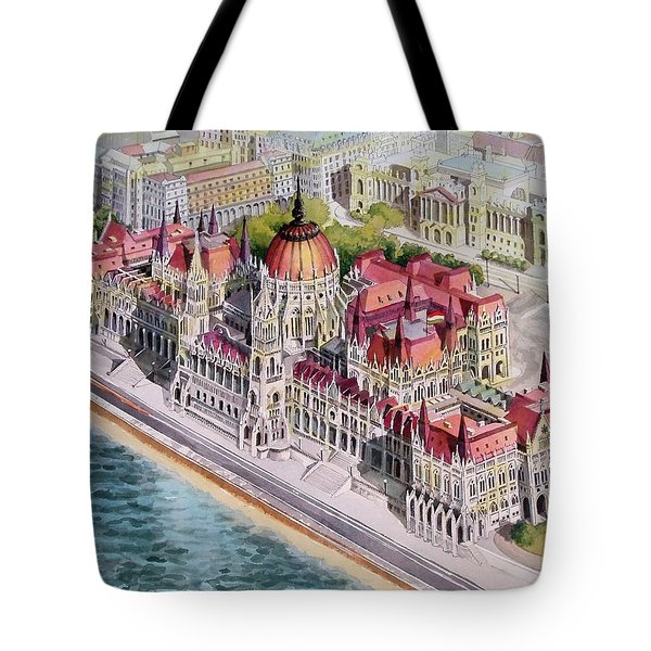 Parliment Of Hungary Tote Bag by Charles Hetenyi