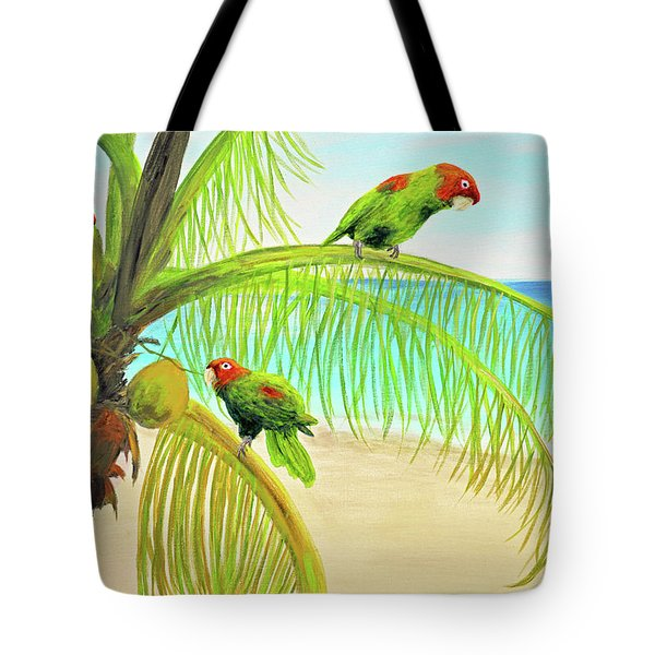 Parrot Beach Tote Bag
