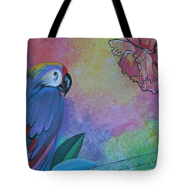 Parrot In Paradise Tote Bag