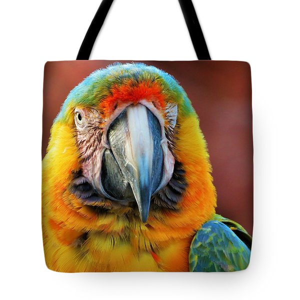 Parrot Portrait Tote Bag