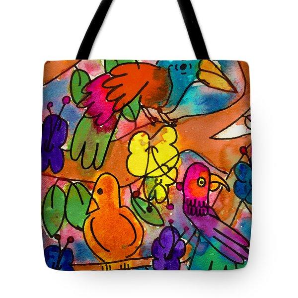 Parrots Tote Bag