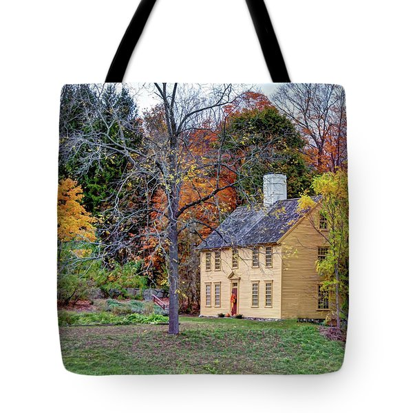 Parson Barnard House In Autumn Tote Bag
