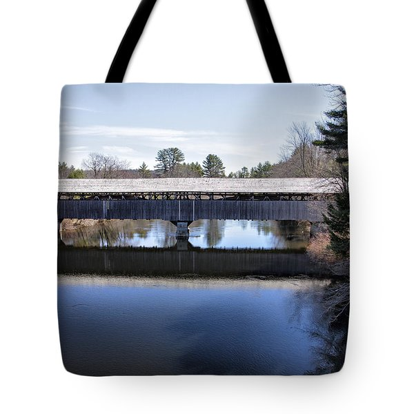 Parsonfield Porter Covered Bridge Tote Bag