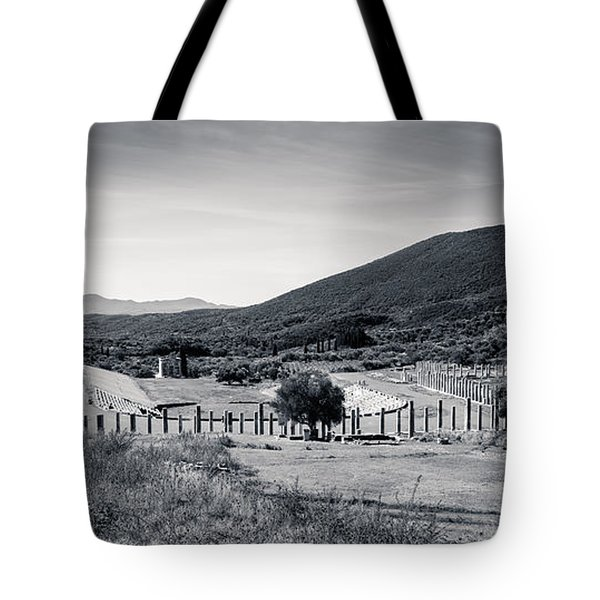 Part Of Ancient Messenei. The Stadium / Greece Tote Bag