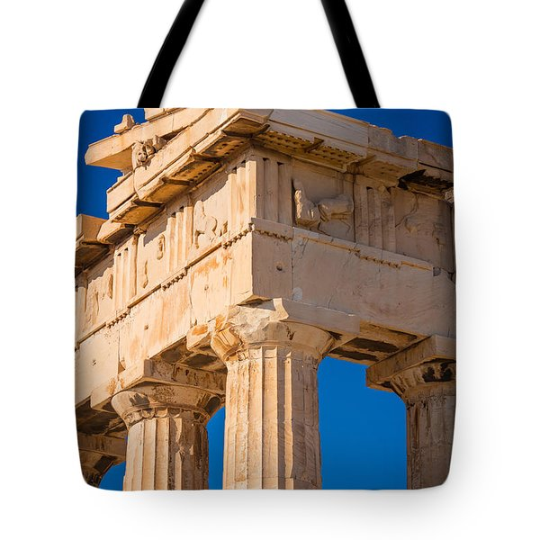 Parthenon Columns Tote Bag