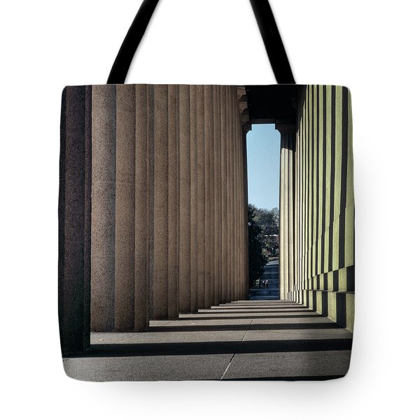 Parthenon Shadow Tunnel Tote Bag
