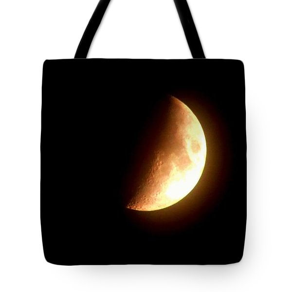 Partial Moon Tote Bag
