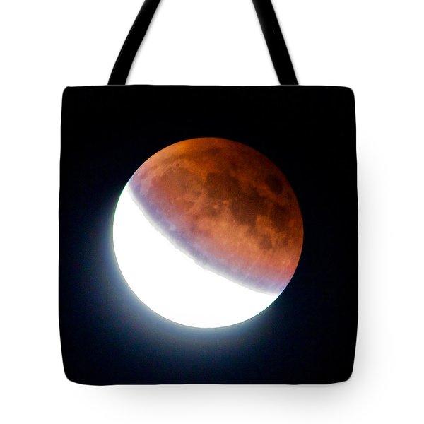 Partial Super Moon Lunar Eclipse Tote Bag