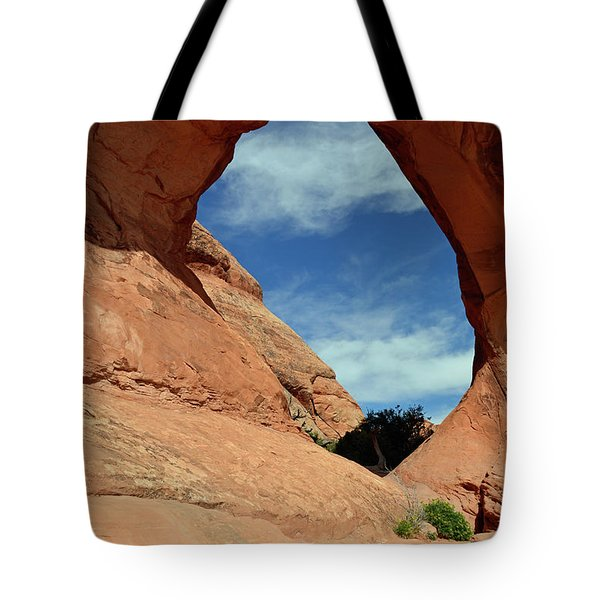Tote Bag featuring the photograph Partition Arch In Arches National Park by Bruce Gourley