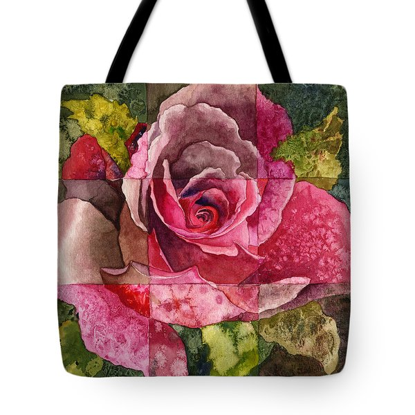 Partitioned Rose IIi Tote Bag