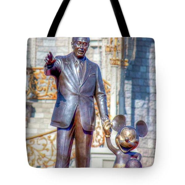 Tote Bag featuring the photograph Partners Statue by Mark Andrew Thomas
