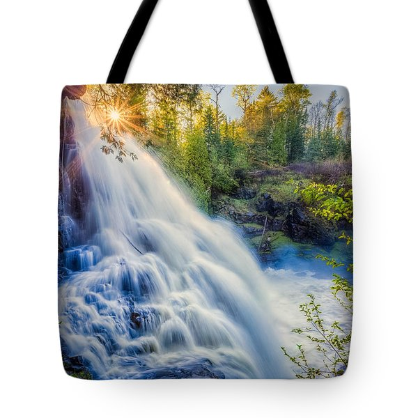 Tote Bag featuring the photograph Partridge Falls In Late Afternoon by Rikk Flohr