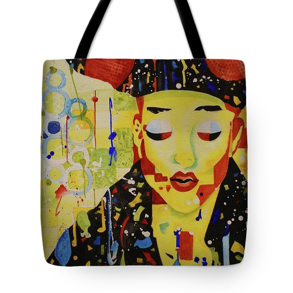 Tote Bag featuring the painting Party Girl by Cynthia Powell